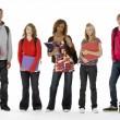 Full Length Studio Portrait Of Five Teenage Students — Stock Photo #4814821