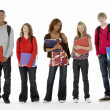 Full Length Studio Portrait Of Five Teenage Students — Stockfoto #4814823