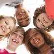 Five Teenage Friends Looking Down Into Camera — Stock Photo #4814852