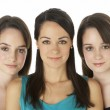 Studio Portrait Of Three Young Women — Stock Photo