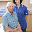 Portrait of male and female osteopath — Stock Photo