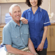 Portrait of male and female osteopath — Foto Stock