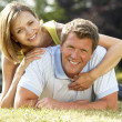 Young couple having fun in countryside — Stock Photo #4815315