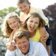 Family having fun in countryside — Stock Photo #4815318