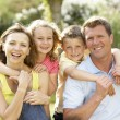 Family having fun in countryside — Stock Photo #4815385