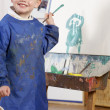 Young Boy Painting — Stock Photo