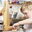 Young Boy Playing at Montessori/Pre-School — Stock Photo
