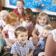 Young Girl Playing at Montessori/Pre-School — Stock Photo