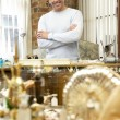 Royalty-Free Stock Photo: Male antique shop proprietor