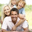 Family having fun in countryside — Stock Photo #4815632