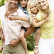 Family having fun in countryside — Stock Photo #4815641