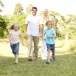 Family having fun in countryside — Stock Photo #4815670
