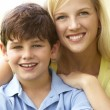 Portrait Of Mother And Son In Park — Stockfoto #4815735