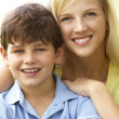 Portrait Of Mother And Son In Park — Stock Photo