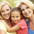 Grandmother With Mother And Daughter In Park — Stock Photo #4815828