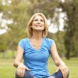 Senior Woman Relaxing In Park — Stock Photo #4815866
