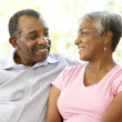 Senior Couple Relaxing At Home Together — Stock Photo