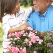 Grandfather And Grandson Gardening Together — Stock Photo #4816234