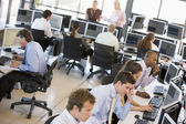 View Of Busy Stock Traders Office — Stock Photo