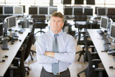 Portrait Of Senior Stock Trader — Stock Photo