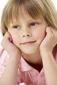 Gülen çocuk portresi studio — Stok fotoğraf