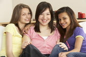 Teenage Girlfriends at Home — Stock Photo