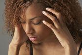 Studio Portrait Of Stressed Teenage Girl — Stock Photo