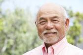 Portret uśmiechający się starszy człowiek — Zdjęcie stockowe