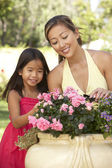 Mother And Daughter Gardening Together — Photo