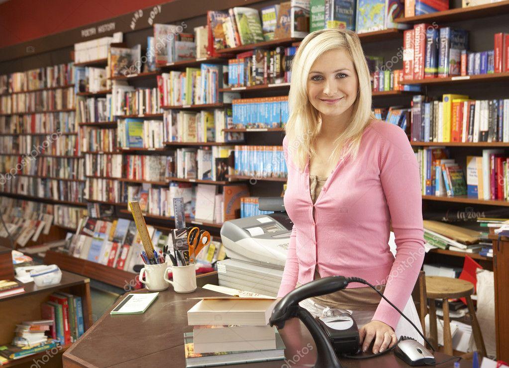 Female bookshop proprietor � Stock Photo � monkeybusiness #4815504