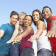 Stock Photo: Group Of Young Friends Having Fun Together
