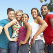 Group Of Young Friends Having Fun Together — Stock Photo #4822177