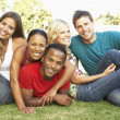 Group Of Young Friends Having Fun Together — Stock Photo #4822188