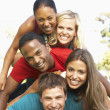 Group Of Young Friends Having Fun Together — Stock Photo #4822190