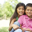 Portrait Of Brother And Sister In Park — Stock Photo