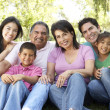 Stock Photo: Portrait Of Extended Family Group In Park
