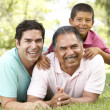 Grandfather With Son And Grandson In Park — Stock Photo #4822336