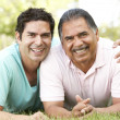Stock Photo: Father With Adult Son In Park