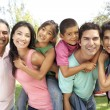Stock Photo: Extended Family Group In Park