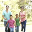 Young Family Having Fun In Park — Stock Photo #4822370