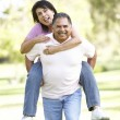 Senior Couple Having Fun In Park — Stock Photo #4822396