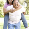 Senior Couple Having Fun In Park — Stock Photo #4822399