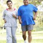 Senior Couple Jogging In Park — Stock Photo #4822411