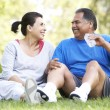 Senior Couple Resting After Exercise — Stock Photo #4822421
