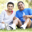 Senior Couple Resting After Exercise — Stock Photo #4822422