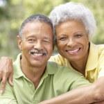 Portrait Of Senior Couple In Park — Stock Photo