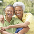 Portrait Of Senior Couple In Park — Stock Photo