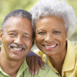 Stock Photo: Portrait Of Senior Couple In Park