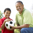 Grandfather With Grandson In — Stock Photo