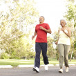 Senior Couple Jogging In Park — Stock Photo #4822717